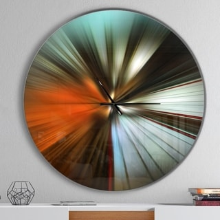 Designart 'Brown Focus Color' Oversized Modern Wall CLock