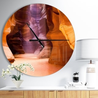 Designart 'Upper Antelope Canyon' Oversized Modern Wall CLock
