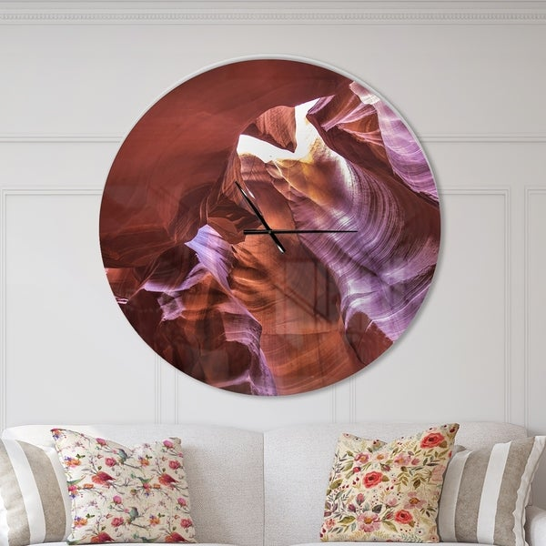 Designart 'Light in Antelope Canyon' Oversized Modern Wall CLock
