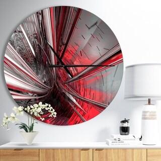 Designart 'Fractal 3D Deep into Middle' Oversized Modern Metal Clock