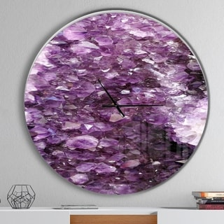 Designart 'Purple Precious Stones' Oversized Modern Wall CLock