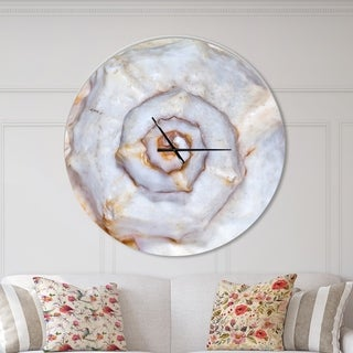 Designart 'Great Skeleton of Sea Shell' Oversized Coastal Wall CLock