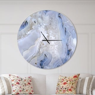 Designart 'Agate Stone Background' Oversized Modern Wall CLock