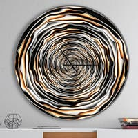 Designart 'Fractal Rotating Abstract Design' Oversized Modern Metal Clock