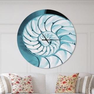 Designart 'Chambered Nautilus Shell' Oversized Coastal Wall CLock