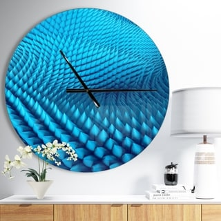 Designart 'Abstract Blue Wavy Background' Oversized Modern Wall CLock