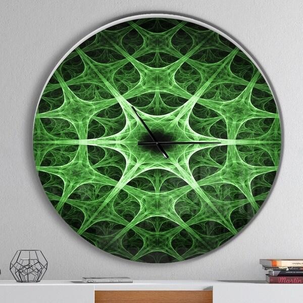 Designart 'Abstract green thorn flower' Oversized Modern Wall CLock