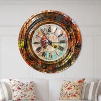 Designart 'People and Time Acrylic Painting' Oversized Modern Wall CLock