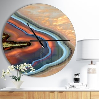 Designart 'Abstract Mineral Texture' Oversized Modern Wall CLock
