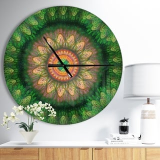 Designart 'The pattern of the gear system' Oversized Modern Wall CLock
