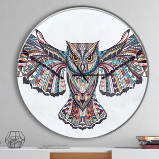 Designart 'Owl on the Grudge' Oversized Children's Art Wall CLock