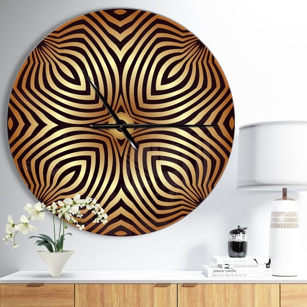 Designart 'Convex Symmetrical Ellipse' Oversized Contemporary Wall CLock