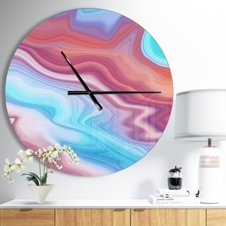 Designart 'Abstract Marbled Background' Oversized Modern Wall CLock