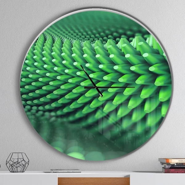 Designart 'Abstract 3D Spiny Background' Oversized Modern Wall CLock