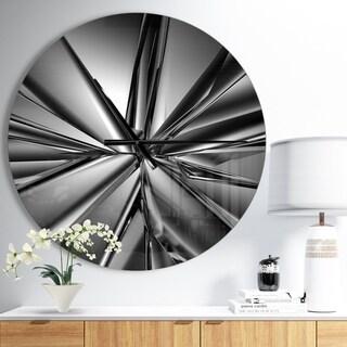 Designart 'Futuristic Crystal Background' Oversized Modern Wall CLock