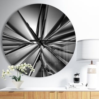 Designart 'Futuristic Crystal Background' Oversized Modern Wall CLock