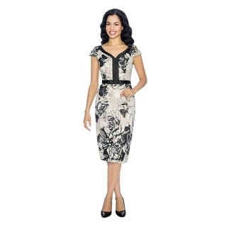 Annabelle Women's Floral Printed Sheath Cocktail Party Dress
