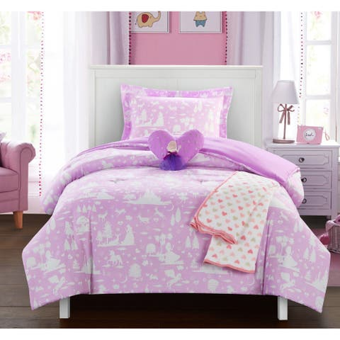 Chic Home Dart 5 Piece Fairy Tale Theme Youth Design Comforter Set