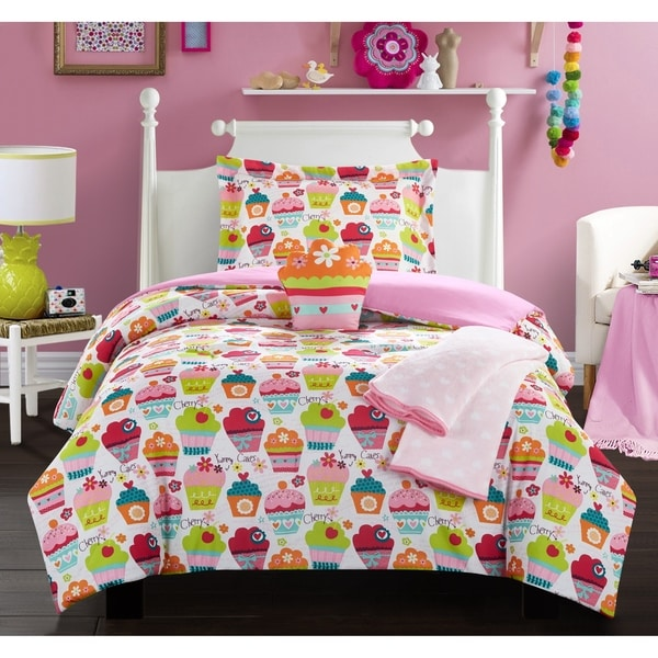 """Chic Home Honey Muffin 5 Piece """"Sweet Dreams"""" Themed Comforter Set"""