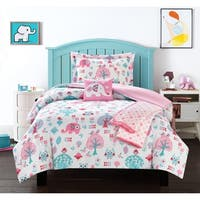 Chic Home Mahmud 5 Piece Elephant Owl Friends Design Comforter Set
