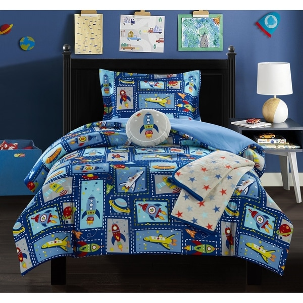 """Chic Home Booster 5 Piece """"Space Explorer"""" Theme Comforter Set"""