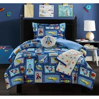 "Chic Home Booster 5 Piece ""Space Explorer"" Theme Comforter Set"