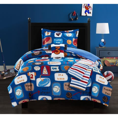 Chic Home Fun Camp 5 Piece Star Athlete Theme Comforter Set