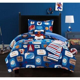 Chic Home Fun Camp 5 Piece Star Athlete Theme Comforter Set