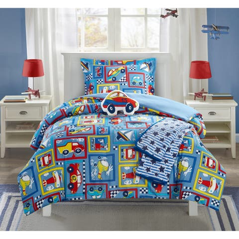 Chic Home Indy 5 Piece Cars Planes Boats Theme Comforter Set