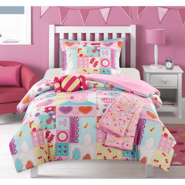"Chic Home Henry 5 Piece Patchwork ""Life is Sweet"" Theme Comforter Set"