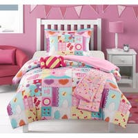 """Chic Home Henry 5 Piece Patchwork """"Life is Sweet"""" Theme Comforter Set"""