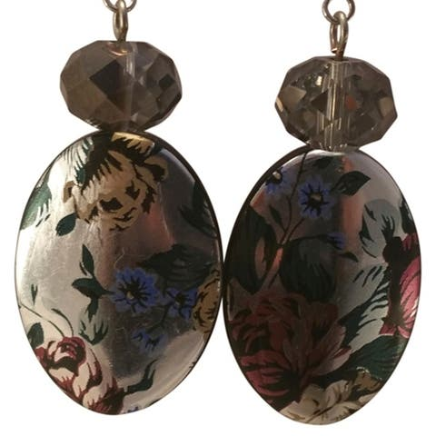 Heavenly Beads Vintage Floral Earrings