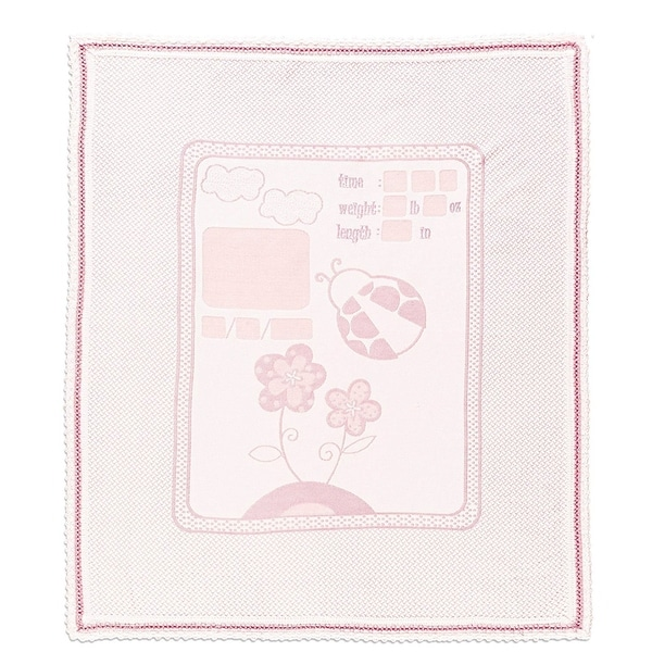 Chiara Rose Personalized Baby Blanket Unique Shower Gifts Registry Idea for New-born Girl Boys with Special Pen