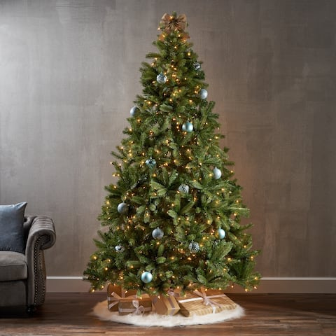 7.5-ft Mixed Spruce Pre-Lit or Unlit Artificial Christmas Tree by Christopher Knight Home