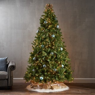 7.5-foot Mixed Spruce Pre-Lit or Unlit Artificial Christmas Tree by Christopher Knight Home