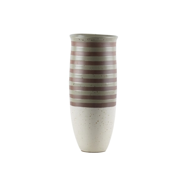 UTC59101: Ceramic Cylinder Vase LG Matte Finish Multicolor