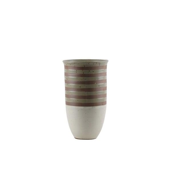 UTC59100: Ceramic Cylinder Vase SM Matte Finish Multicolor