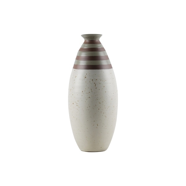 UTC59103: Ceramic Round Bellied Vase LG Matte Finish Multicolor