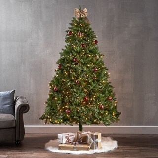 7-foot Fraser Fir Pre-Lit String Light or Unlit Hinged Artificial Christmas Tree by Christopher Knight Home
