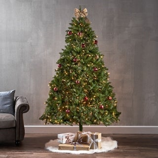7-foot Dunhill Fir Pre-Lit LED or Unlit Hinged Artifical Christmas Tree by Christopher Knight Home