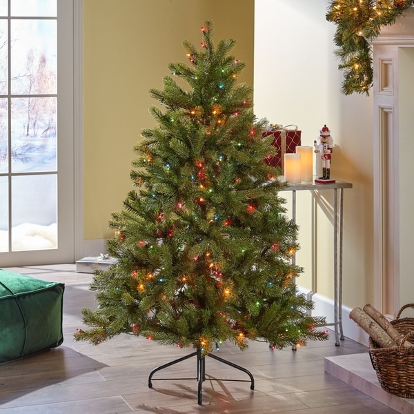Shop 4.5-ft Mixed Spruce Pre-Lit or Unlit Artificial ...