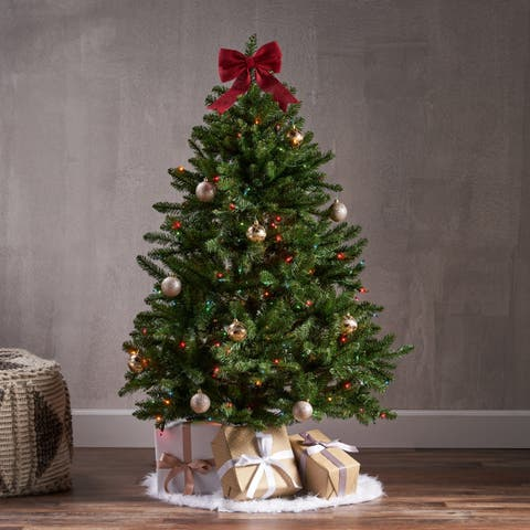 4.5-ft Norway Spruce Pre-Lit or Unlit Hinged Artificial Christmas Tree by Christopher