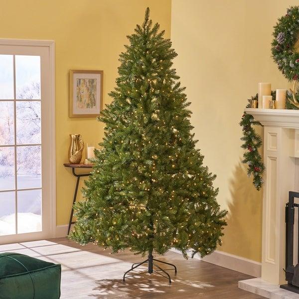 Pre Lit 9 Ft Christmas Tree: Shop 9-ft Dunhill Fir Pre-Lit Or Unlit Hinged Artificial