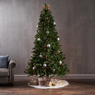 7.5-foot Noble Fir Pre-Lit or Unlit Hinged Artificial Christmas Tree by Christopher Knight Home