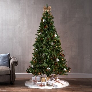 7-foot Noble Fir Pre-Lit LED or Unlit Hinged Artificial Christmas Tree by Christopher Knight Home