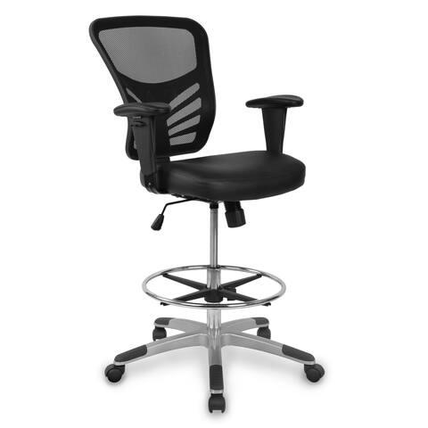 EdgeMod Brighton Drafting Chair with Vegan Leather Seat