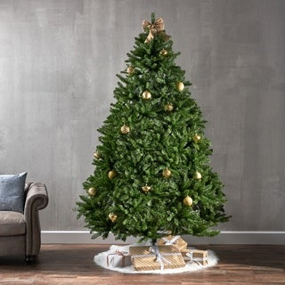 7.5-foot Norway Spruce Pre-Lit LED or Unlit Hinged Artificial Christmas Tree by Christopher Knight Home