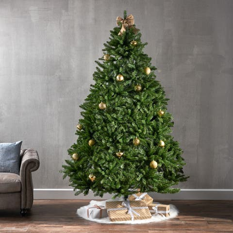 7.5-ft Norway Spruce Pre-Lit or Unlit Hinged Artificial Christmas Tree by Christopher Knight Home