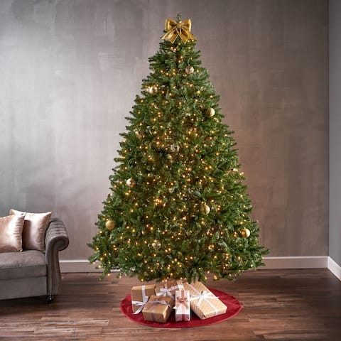 9-foot Norway Spruce Pre-Lit LED or Unlit Hinged Artificial Christmas Tree by Christopher Knight Home
