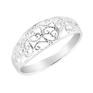Handmade Intricate Swirls of Braided Sterling Silver Ring (Thailand)
